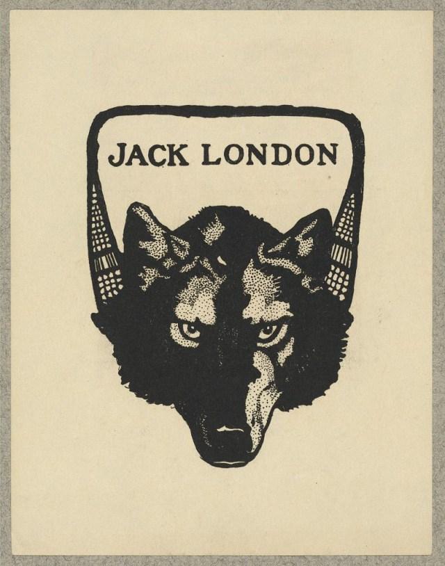 Bookplate of author Jack London, lithograph (via Library of Congress, Prints and Photographs Division)
