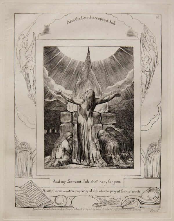 In Of William Blake' Final Works Engraved Trials
