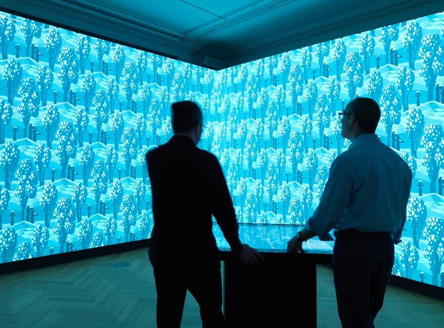 Installation view of Immersion Room (photo by Matt Flynn, © 2014 Cooper Hewitt, Smithsonian Design Museum)