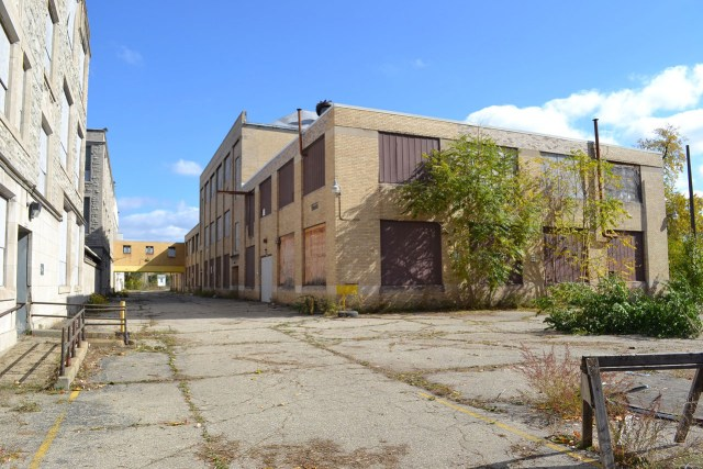 One of the buildings at the future site of Galapagos Detroit (all images courtesy Galapagos)