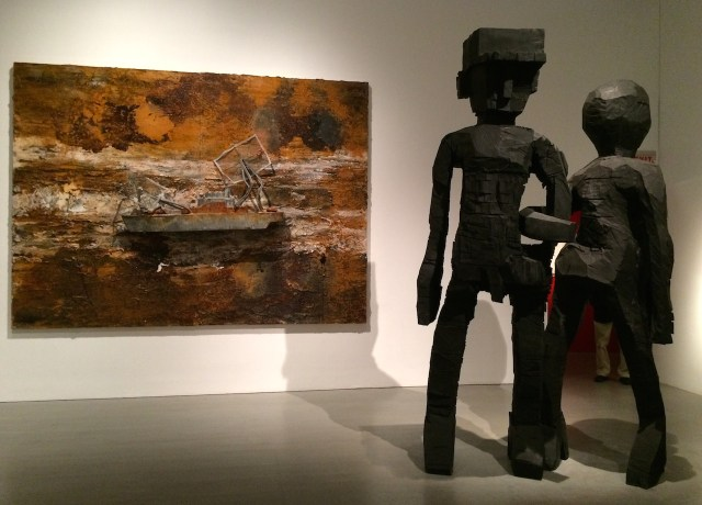 Works by Anselm Kiefer and Georg Baselitz in 'One Way: Peter Marino' at the Bass Museum of Art