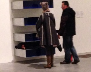 "@TheodoreArt's pic of adults with kids ""critiquing"" a Judd."