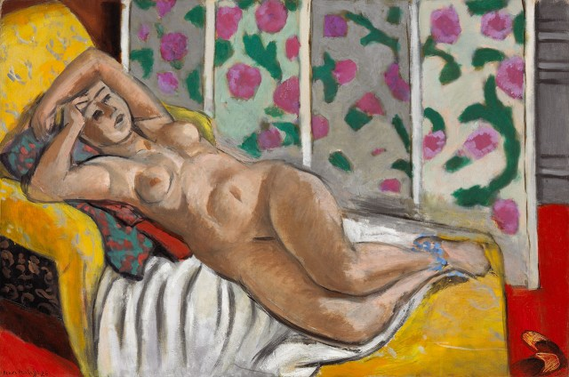 "Henri Matisse, ""Nude on a Yellow Sofa"" (1926), oil on canvas, National Gallery of Canada, Ottawa, purchase 1958 (photo courtesy NGC)"