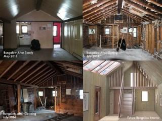 The process of restoring the Stilt City bungalow