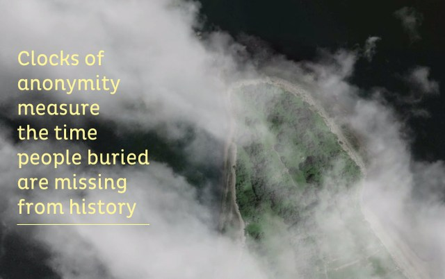 The Hart Island Project's Traveling Cloud Museum (screenshot by the author for Hyperallergic)
