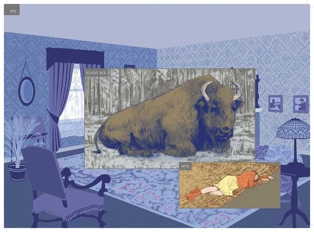 Richard McGuire, spread from 'Here' (2014) (© Richard McGuire)