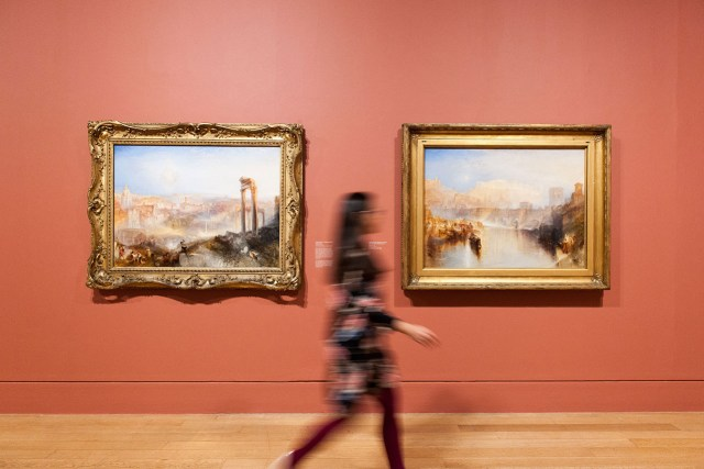 Installation view, 'The EY Exhibition: Late Turner – Painting Set Free' at Tate Britain (courtesy Tate Britain)