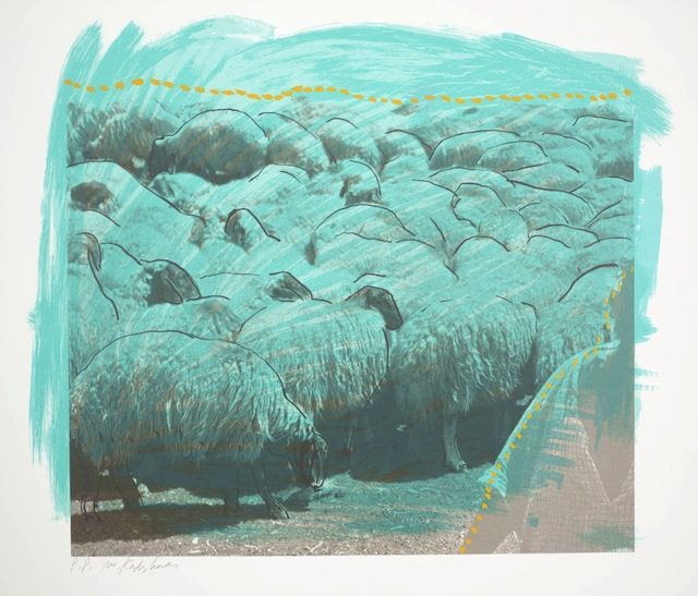 """Menashe Kadishman, """"Sheep B"""" (1979): """"There is a lot of elephants in the river but also there is a lot of elephants in the river. It is similar to a sandy area with an elephant made from sand."""""""