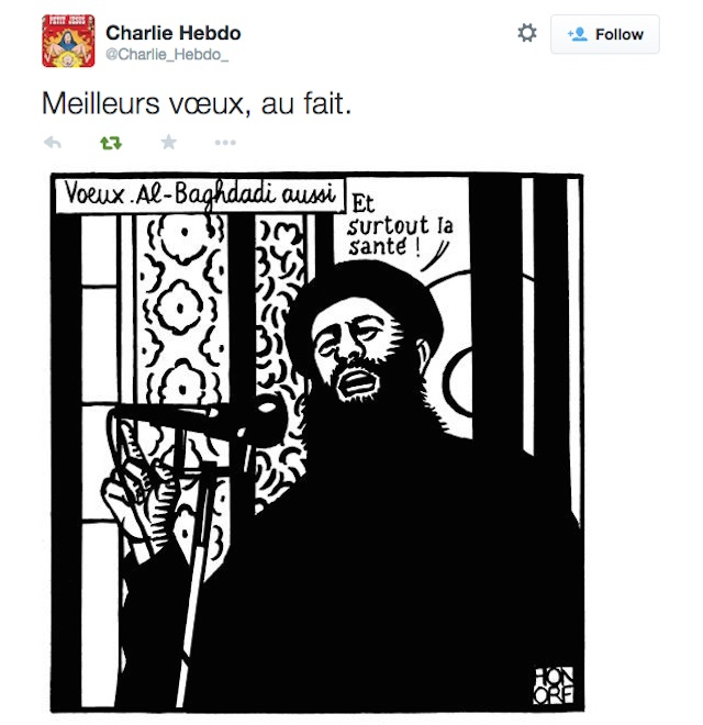 The last tweet from @Charlie_Hebdo_