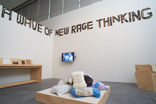 Installation view, 'Alien She' at Yerba Buena Center for the Arts, 2014 (image courtesy Phocasso and Yerba Buena Center for the Arts, San Francisco)