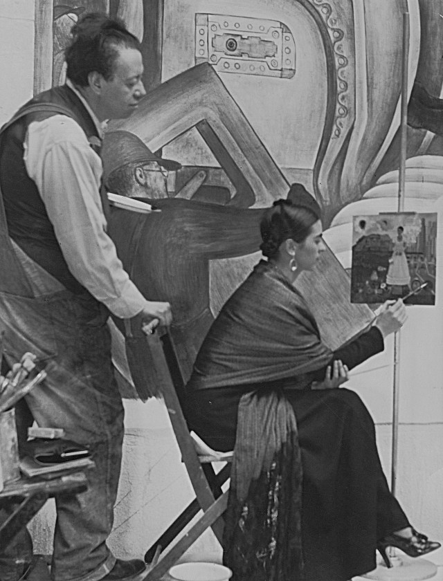 Diego Rivera and Frida Kahlo in Detroit, c. 1933, Courtesy of Spencer Throckmorton Collection, New York
