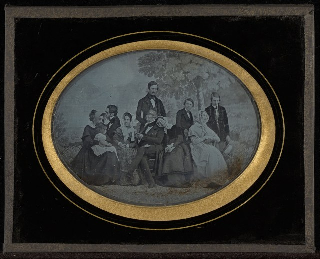 "Jean-Gabriel Eynard, ""Group portrait of ten members of the Circle of Eynard-Lullin"" (1845), daguerreotype (J. Paul Getty Museum, via Wikimedia)"