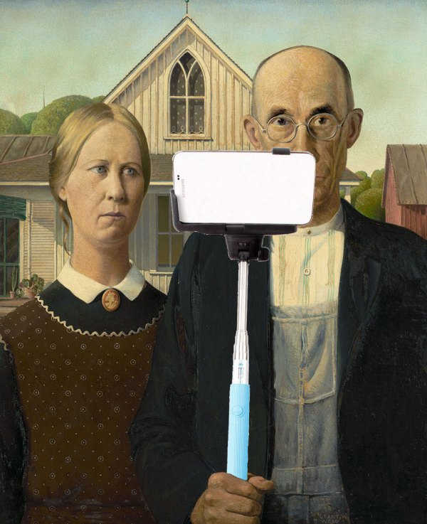 American Gothic Stick Selfie