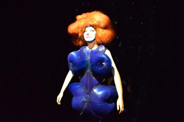Iris van Herpen, 'Biophilia' Dress (2011) (photo by Benjamin Sutton/Hyperallergic)