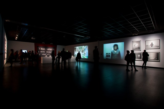 Time & Motion: Redefining Working Life, installation view at Haus der Kulturen der Welt, photo by Julian Paul, courtesy of transmediale