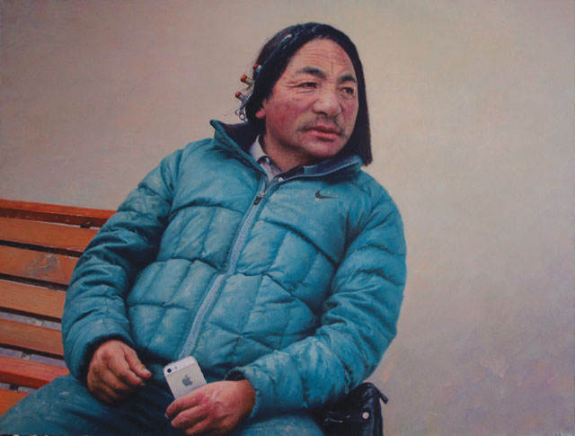 "Tserang Dhundrup, ""Gold iPhone"", 2014"