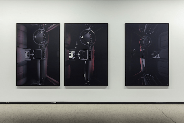 "Installation view of Wyatt Niehaus, ""0011,"" ""0012,"" & ""0018,"" 2014. All 62"" × 42"",  Chromogenic prints. All images courtesy of Division Gallery."