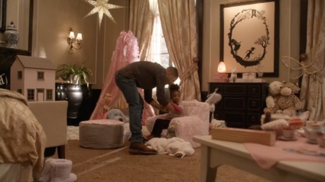 A Kara Walker in a kid's bedroom (click to enlarge)