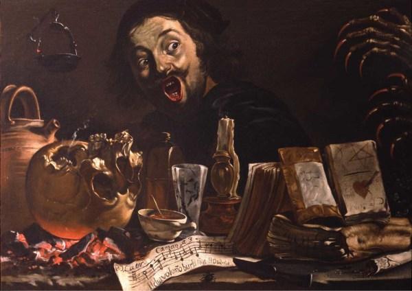 Pieter Van Laer Magic Scene with Self Portrait