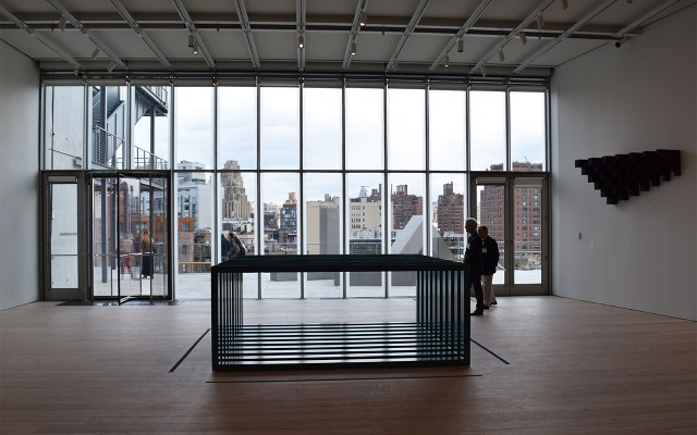 A view from the sixth floor galleries to the west, across Manhattan