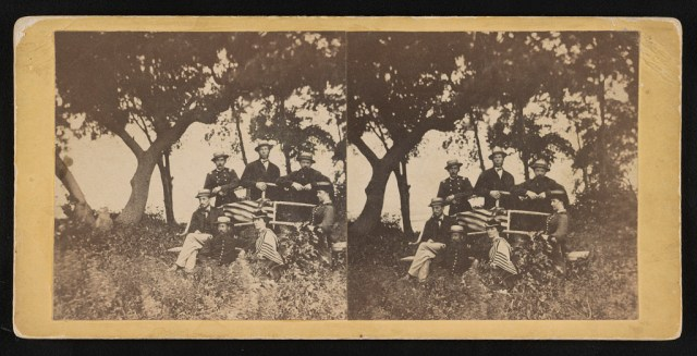 Group taken at Blythwood Plantation, Ladies Is. [i.e. Island], opposite Beaufort, S.C. - Hubbard & Mix
