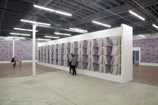 Installation view, 'Rob Pruitt: The Obama Paintings and the Lincoln Monument' at MOCAD