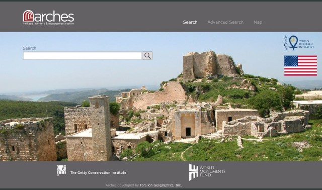 ASOR homepage for Arches (courtesy WMF)