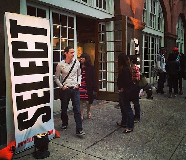 The entrance to the 2014 Select Art Fair (photo via Hyperallergic/Instagram)