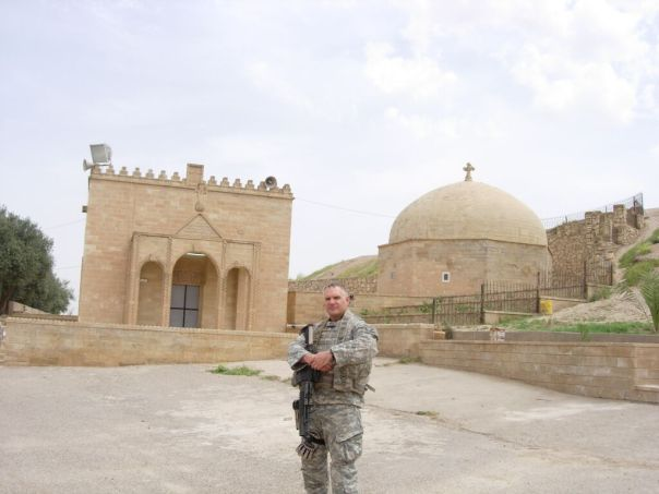 An American soldier outside the tomb of Mar Behnam and Mart Sarah. Photo (c) Suzanne Bott, 2009. Used with permission.