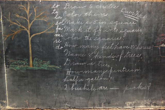 1917 chalkboard drawings at Emerson High School, Oklahoma City