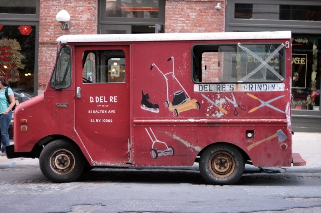 A handpainted truck in New York City