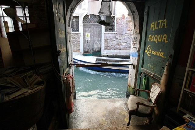 The Libreria Acqua Alta in Venice, Italy