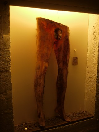 The world's only surviving Necropants is in the Museum of Icelandic Sorcery and Witchcraft in Hólmavík, Iceland (photo by Bernard McManus)