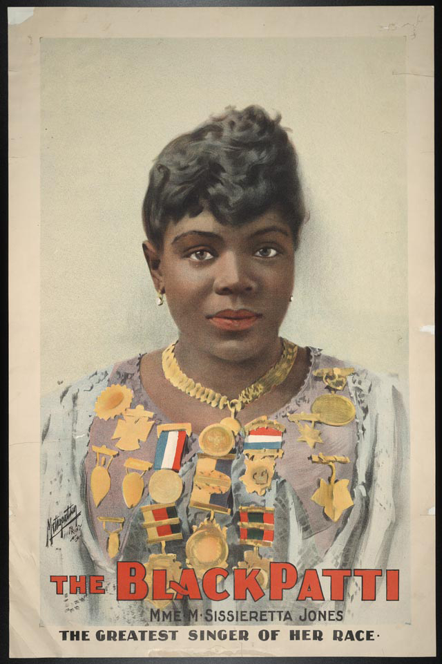 A poster for Sissieretta Jones, 1889 (image courtesy Library of Congress) (click to enlarge)
