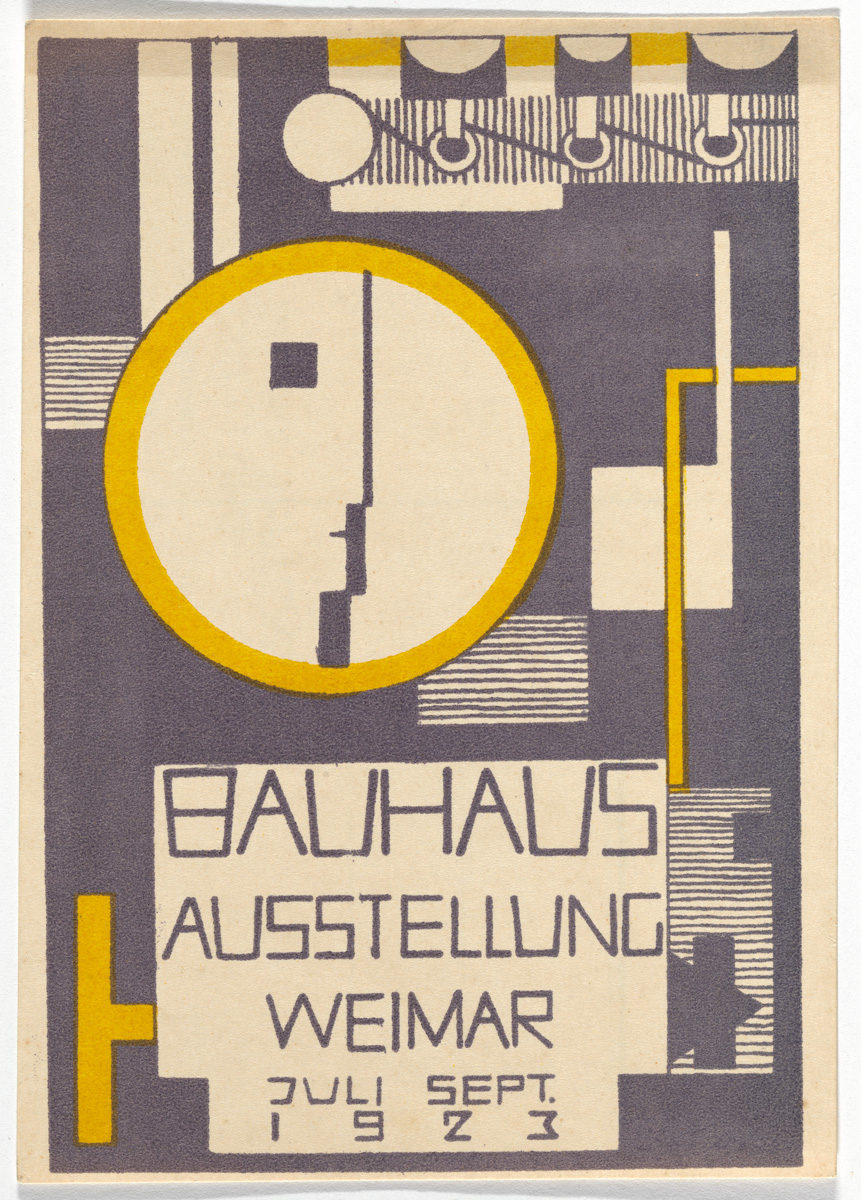 Bauhaus Poster The Exuberant Postcard Art Of The First Bauhaus Exhibition
