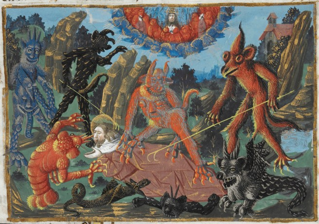 Image result for medieval manuscript fear of heights