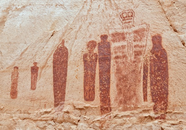 Utah has been known for its rock art, such as this drawing in Canyonlands National Park. (Image via Wikimedia)