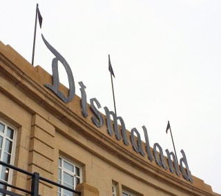 The official Dismaland sign