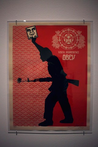 "Shepard Fairey, ""Visual Disobedince"" (2004) screenprint on paper, 18 x 24 inches"