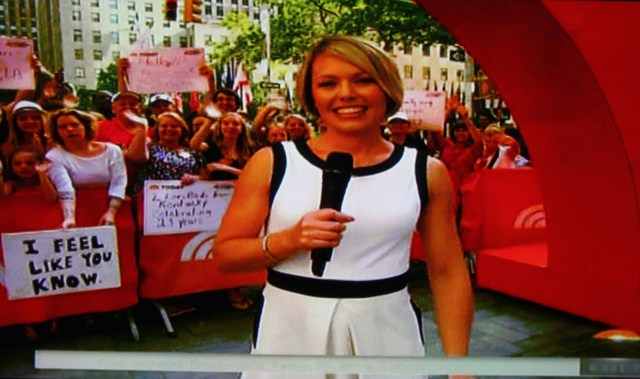 One of Christie Blizard's appearances on 'TODAY'