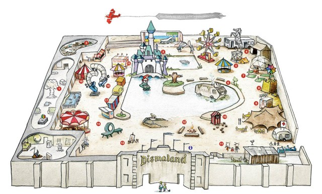 The plan of Dismaland