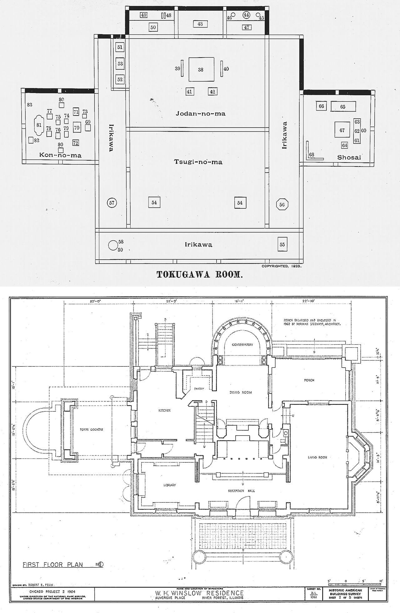 Frank Lloyd Wright Robie House Floor Plan