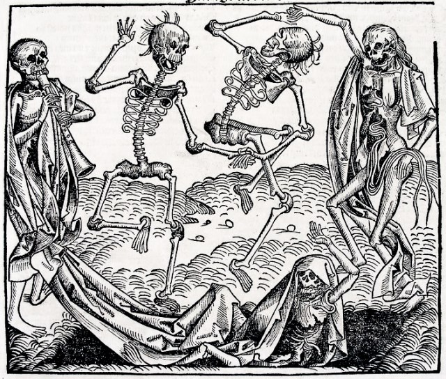 'Dance of Death' Hartman Schedel's 'Chronicle of the World' (1493) (via Wikimedia)