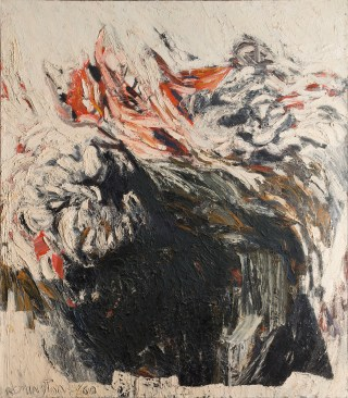"Deborah Remington, ""Exodus"" (1960), oil paint on canvas, 71 x 62 in, Private collection (image courtesy the Deborah Remington Charitable Trust for the Visual Arts)"
