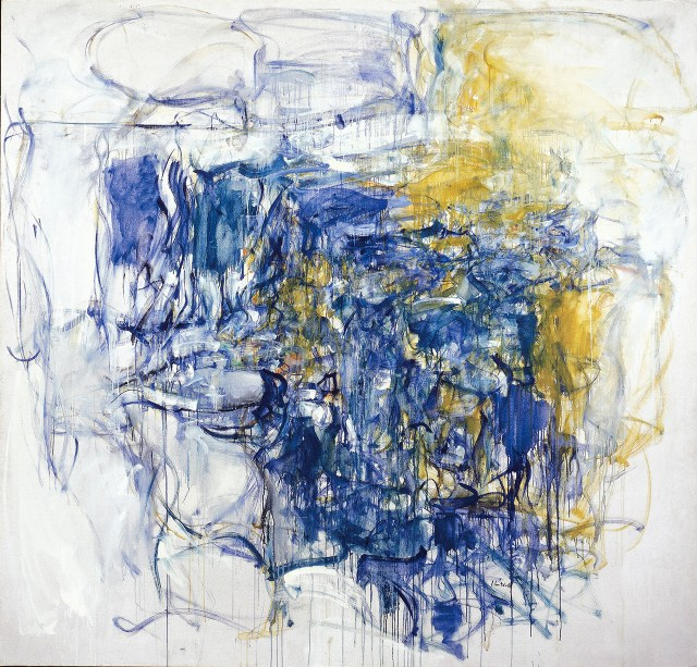 "Joan Mitchell, ""Hudson River Day Line"" (1955), oil paint on canvas, 79 x 83 in, Collection of the McNay Art Museum, Museum: purchase with funds from the Tobin Foundation (image © Estate of Joan Mitchell)"