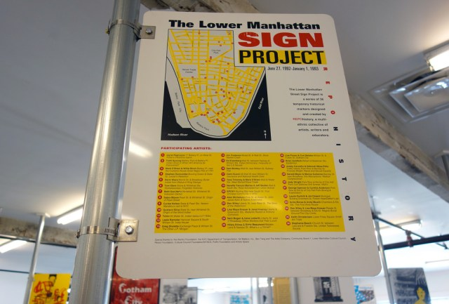 Lower Manhattan Sign Project