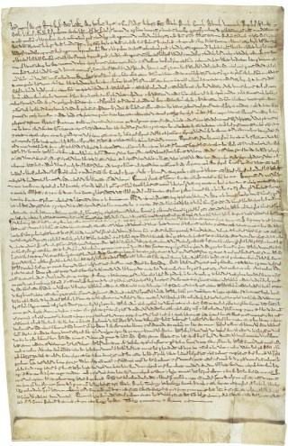 The 1217 Magna Carta (courtesy the Dean and Chapter of Hereford Cathedral from the Library and Archive collections)
