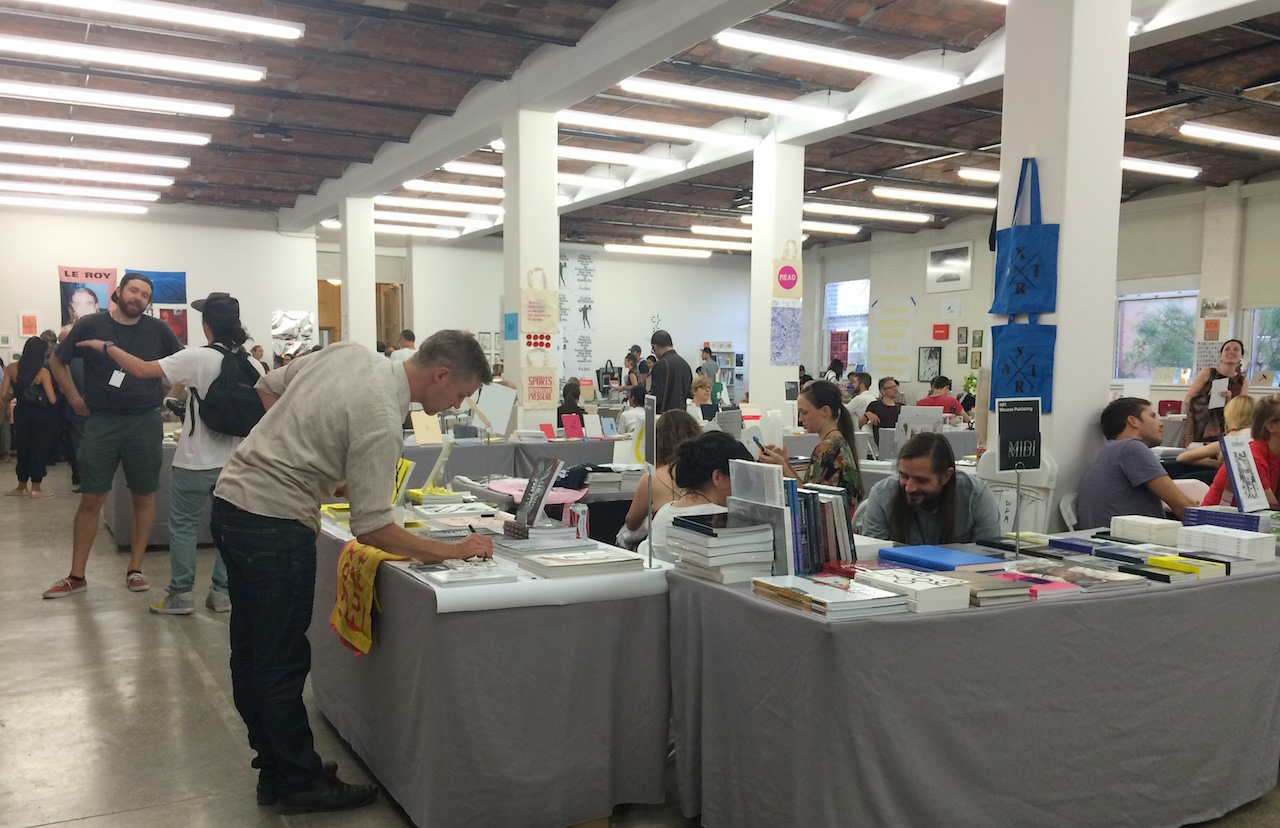 Inside the 2015 edition of the New York Art Book Fair (photo by Claire Voon for Hyperallergic)