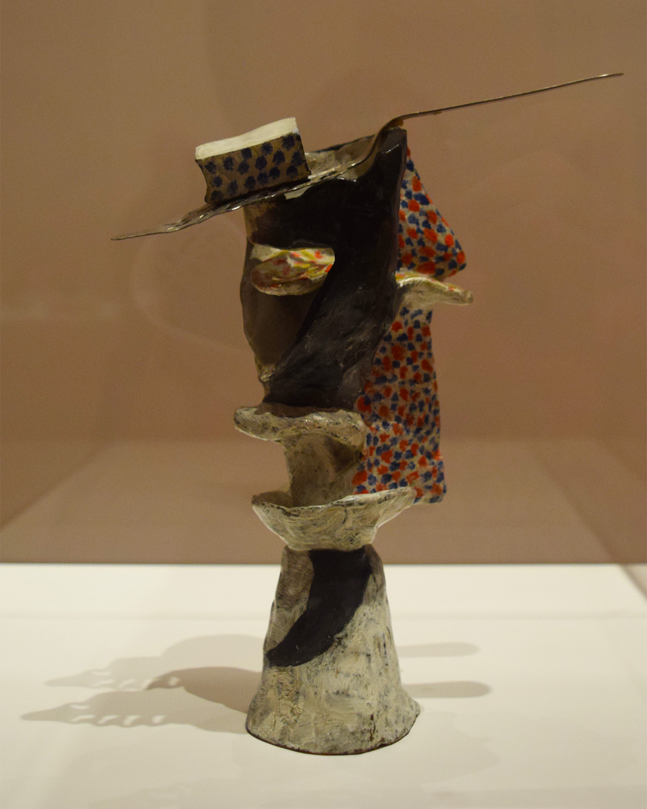 "One of Pablo Picasso's ""Glass of Absinthe"" painted bronze sculptures from 1914, all six of which are included in 'Picasso Sculpture'"