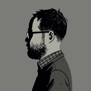 Adrian Tomine self-portrait (click to enlarge)